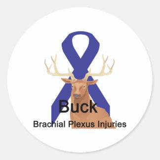Buck-Brachial-Plexis-Injuries Classic Round Sticker