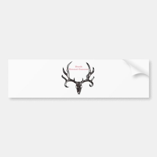 Buck Breast Cancer Bumper Sticker