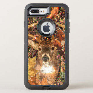 Buck Camouflage White Tail Deer Decor on a OtterBox Defender iPhone 8 Plus/7 Plus Case