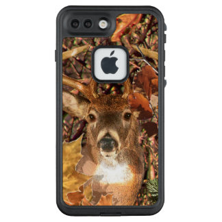 Buck Camouflage White Tail Deer on a LifeProof FRĒ iPhone 7 Plus Case