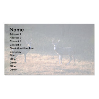 Buck confrontation at dawn Double-Sided standard business cards (Pack of 100)