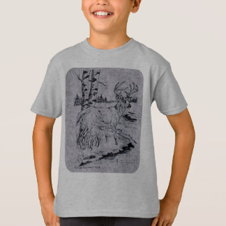 Buck Creek Ink Drawing Rounded Corners T-Shirt