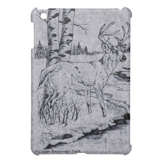 Buck Creek Ink Gray Faux Marble iPad Mini Cases