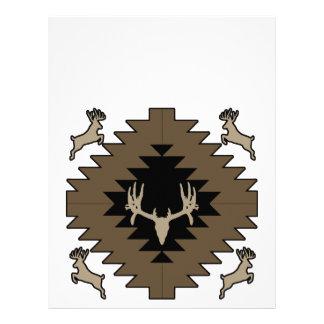 Buck deer American Indian art Letterhead