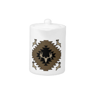 Buck deer American Indian art Teapot