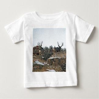 Buck deer first snow baby T-Shirt