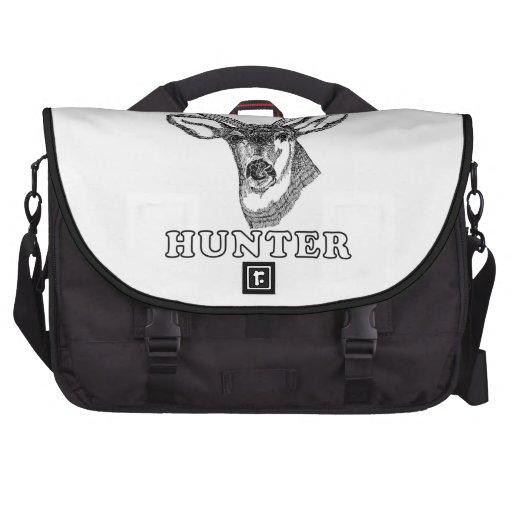 Buck Deer Hunter Drawing Whitetail Bow Hunting Laptop Bags