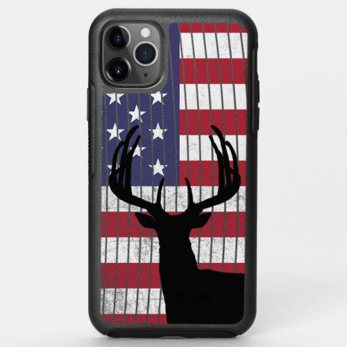 Buck Deer Hunting American Flag Phone Case