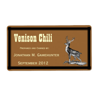 Buck Deer on Brown Canning Custom Shipping Label