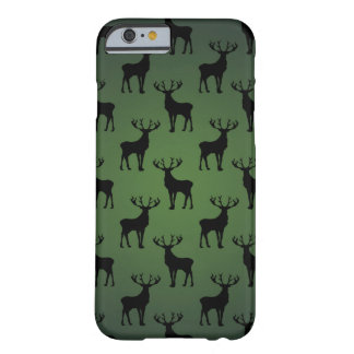 Buck Deer Pattern on Green Barely There iPhone 6 Case