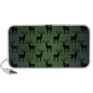 Buck Deer Pattern on Green Portable Speaker