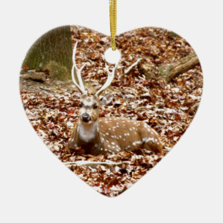 Buck Deer Spotted Male With Antlers | Fall Forest Ceramic Ornament