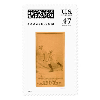 Buck Ewing Baseball Card 1887 Postage Stamp