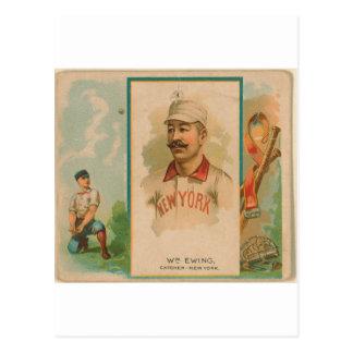 Buck Ewing, New York Giants Postcard