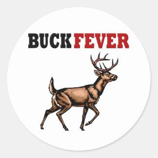 BUCK FEVER CLASSIC ROUND STICKER