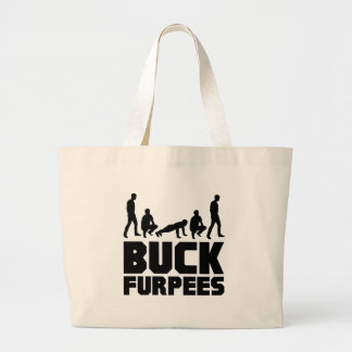 Buck Furpees -- Burpees Fitness Large Tote Bag
