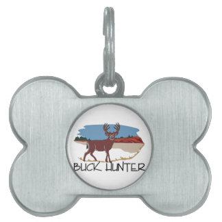 Buck Hunter Pet Name Tag