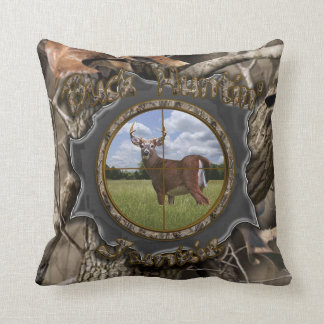 Buck Huntin Junkie Camo Pillow
