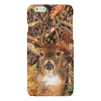 Buck in Camo White Tail Deer Glossy iPhone 6 Case