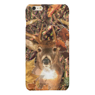 Buck in Camo White Tail Deer Glossy iPhone 6 Plus Case