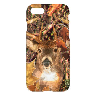 Buck in Camo White Tail Deer iPhone 8/7 Case