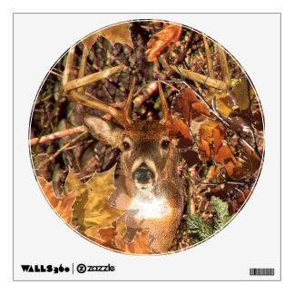 Buck in Camo White Tail Deer Wall Sticker