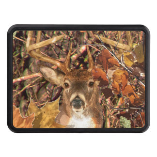 Buck in Camouflage White Tail Deer Trailer Hitch Cover
