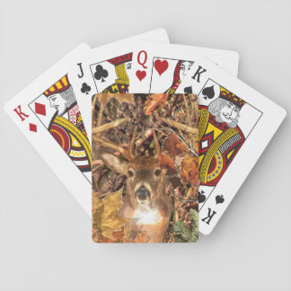 Buck in Fall Camo White Tail Deer Playing Cards