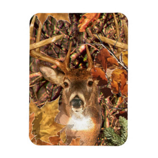 Buck in Fall Camo White Tail Deer Rectangular Photo Magnet