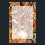 "Buck in Fall Camo White Tail Deer Stationery<br><div class=""desc"">A Deer Head Energy Spirit design. A white tail antlers buck trophy visual composition on Fall camouflage that is sure to make an impression on or off the trails. We also carry a wide selection of custom embroidered caps to complete your quest for that something special.</div>"