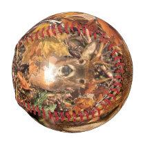 Buck in Fall Hunter Camo White Tail Deer Baseball