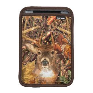 Buck in Fall season scene White Tail Deer Sleeve For iPad Mini