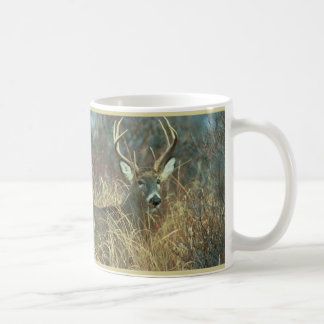 Buck in the Grass Classic White Coffee Mug