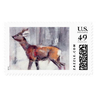 Buck in the snow 2000 postage
