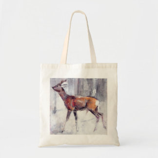 Buck in the snow 2000 tote bag