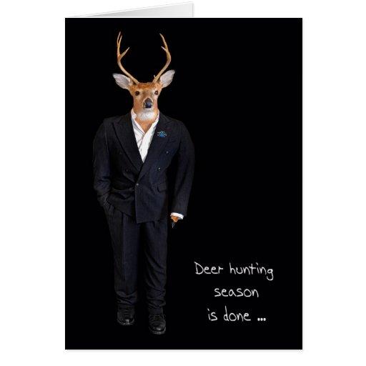 Buck in tuxedo greeting card