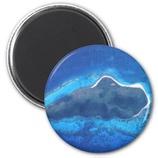 Buck Island National Reef 2 Inch Round Magnet