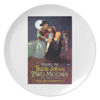 Buck Jones Two Moons vintage movie poster 1920 Dinner Plate
