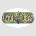 Buck Life Gear and Mugs Oval Stickers