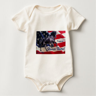 Buck Mitt— I Support Bronco Bama! Baby Bodysuit