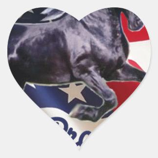 Buck Mitt— I Support Bronco Bama! Heart Sticker