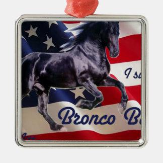 Buck Mitt— I Support Bronco Bama! Metal Ornament