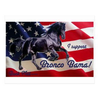 Buck Mitt— I Support Bronco Bama! Postcard