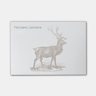 Buck Mule Deer Letterpress Style Post-it® Notes