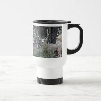 Buck mule deer poseur travel mug