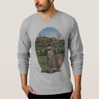 Buck Mule Deer Wildlife Art T-Shirt