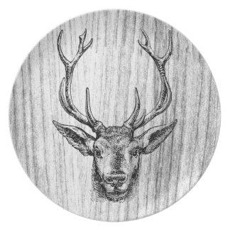 Buck of a Deer Dinner Plate