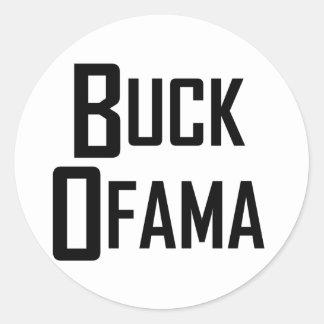 Buck Ofama Classic Round Sticker
