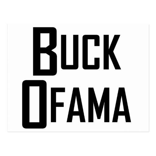Buck Ofama Postcard