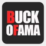 BUCK OFAMA SQUARE STICKER